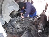 トラックヒーター修理